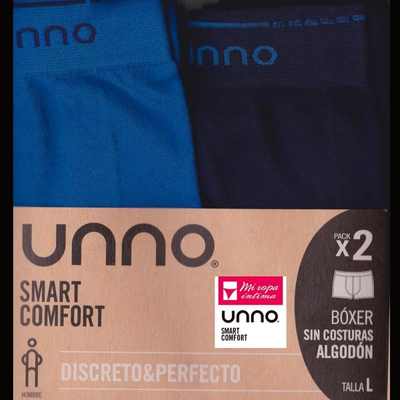 UH102 UNNO/DIM PACK-2 BOXER HOMBRE ALGODON SIN COSTURAS Foto 1050