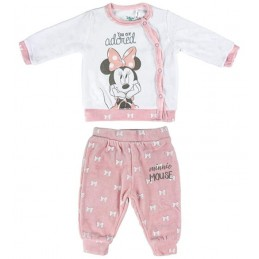 "4628 DISNEY PIJAMA BEBE 2 PZAS TUND MINNIE ""You are Adored"""