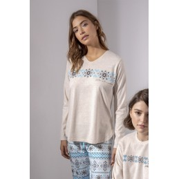 "54546 ADMAS PIJAMA MUJER CENEFA ""Winter on the mountain"""