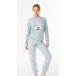 "N10592 PROMISE PIJAMA JOVEN INTERLOCK ""Some Where on a Rainbow"""