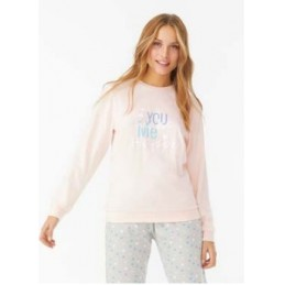 "N010522 PROMISE PIJAMA JUVENIL INTERLOCK ""You Make me Happy"""
