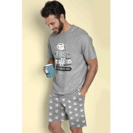 "55708 MR.WONDERFUL PIJAMA HOMBRE ""FIRST COFFEE"""