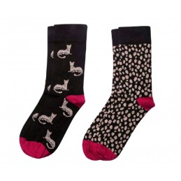 029024 SOXLAND PACK-2 CALCETIN SRA FANT ANIMAL PRINT