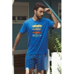 55292 ADMAS PIJAMA HOMBRE ALGODON SURF