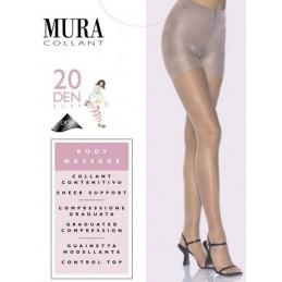 302 MURA 3-M/4-L PANTY BODY CONTROL MASSAGE 20 DEN Foto 5432