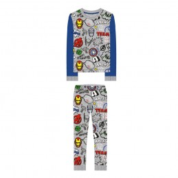 6345 AVENGERS PIJAMA NIÑO INTERLOCK VIGORE ESTAMP