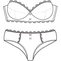Conjuntos braga sujetador para novias. Venta al por mayor